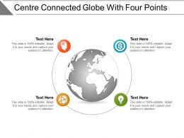 Centre Connected Globe With Four Points