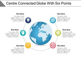 Centre Connected Globe With Six Points