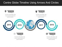 Centre Globe Timeline Using Arrows And Circles