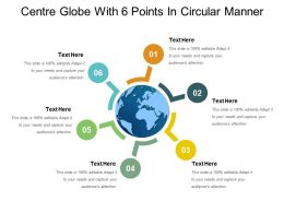 Centre Globe With 6 Points In Circular Manner