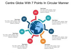 Centre Globe With 7 Points In Circular Manner