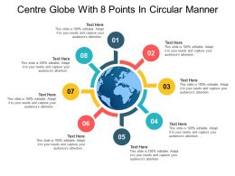 Centre Globe With 8 Points In Circular Manner