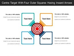 Centre Target With Four Outer Squares Having Inward Arrows
