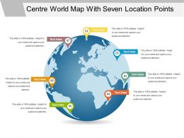 Centre World Map With Seven Location Points