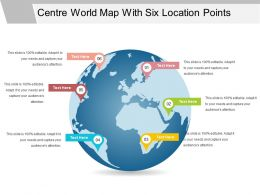 Centre World Map With Six Location Points