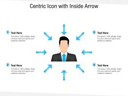 Centric Icon With Inside Arrow