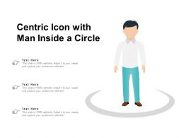 Centric Icon With Man Inside A Circle