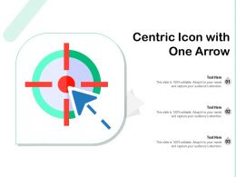 Centric Icon With One Arrow