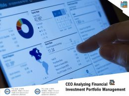 CEO Analyzing Financial Investment Portfolio Management