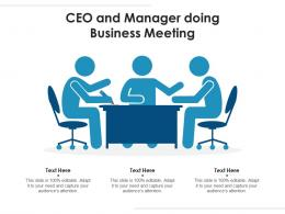 CEO And Manager Doing Business Meeting