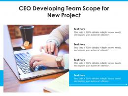 CEO Developing Team Scope For New Project