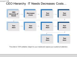Ceo Hierarchy It Needs Decreases Costs Increases Revenue