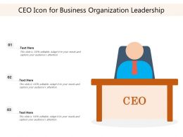 CEO Icon For Business Organization Leadership