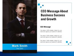 CEO Message About Business Success And Growth