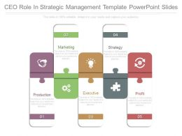 Ceo Role In Strategic Management Template Powerpoint Slides