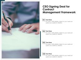 CEO Signing Deal For Contract Management Framework