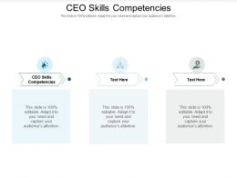 CEO Skills Competencies Ppt Powerpoint Presentation Infographics Background Images Cpb