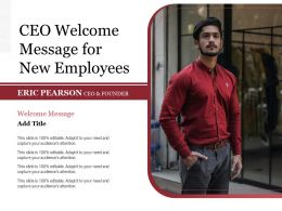 CEO Welcome Message For New Employees