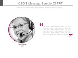 Ceos Message Sample Of Ppt