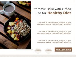 Ceramic Bowl With Green Tea For Healthy Diet