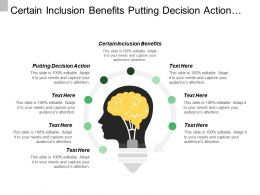 Certain Inclusion Benefits Putting Decision Action Civil Society