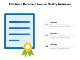 Certificate Document Icon For Quality Assurance