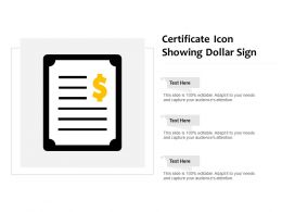 Certificate Icon Showing Dollar Sign