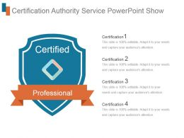 Certification Authority Service Powerpoint Show