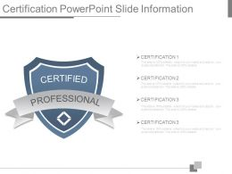 Certification Powerpoint Slide Information
