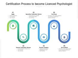 Certification Process To Become Licenced Psychologist