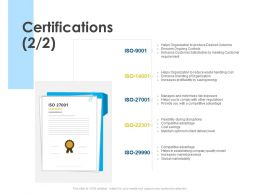 Certifications Award Ppt Powerpoint Presentation Slides Show