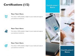 Certifications Communication J203 Ppt Powerpoint Presentation File Icon