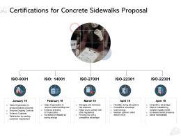 Certifications For Concrete Sidewalks Proposal Ppt Powerpoint Presentation Inspiration