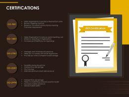 Certifications Management Ppt Powerpoint Presentation Outline Slides