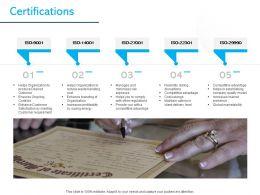 Certifications Organization Ppt Powerpoint Presentation Designs