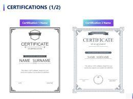 Certifications Portfolio A789 Ppt Powerpoint Presentation Styles Portfolio
