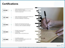 Certifications Ppt Powerpoint Presentation Gallery Example Introduction
