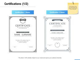 Certifications Strategy A1052 Ppt Powerpoint Presentation Icon File Formats