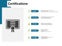 Certifications Winner L77 Ppt Powerpoint Presentation Styles Gridlines