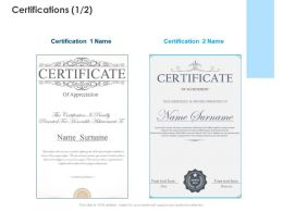 Certifications Winner Ppt Powerpoint Presentation Styles Layouts