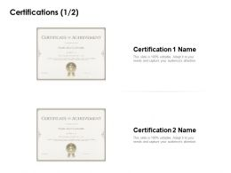 Certifications Winner Ppt Powerpoint Presentation Templates