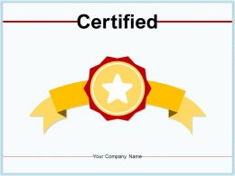 Certified Business Completion Product Service Assurance Investment