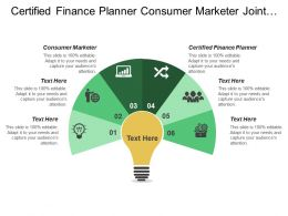 Certified Finance Planner Consumer Marketer Joint Venture Manage