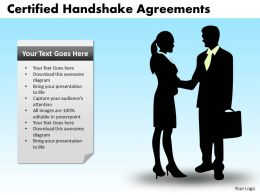 Certified Handshake Agreements Powerpoint Slides And Ppt Templates DB