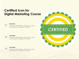 Certified Icon For Digital Marketing Course