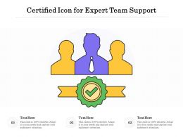 Certified Icon For Expert Team Support