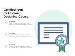 Certified Icon For Fashion Designing Course