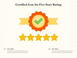 Certified Icon For Five Start Rating