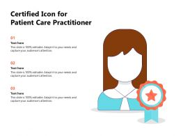 Certified Icon For Patient Care Practitioner