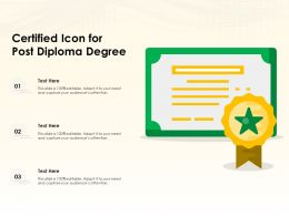 Certified Icon For Post Diploma Degree